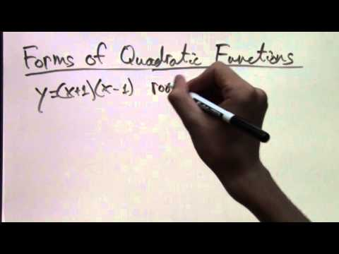 Forms of Quadratic Functions