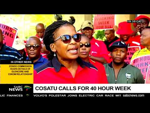 Cosatu calls for 40 hour work week across all sectors