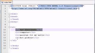xhtml and css tutorial 15 lists