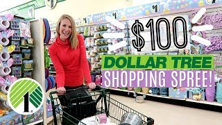 $100 DOLLAR TREE SHOPPING SPREE! 😱 Easter, Organization & NEW finds 2019!