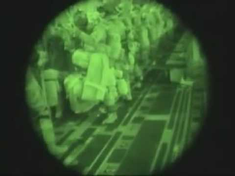 173rd Airborne Brigade Jump Into Iraq 2003