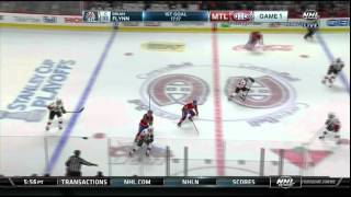 Brian Flynn stuff in goal 4-3 Ottawa Senators vs Montreal Canadiens April 15 2015