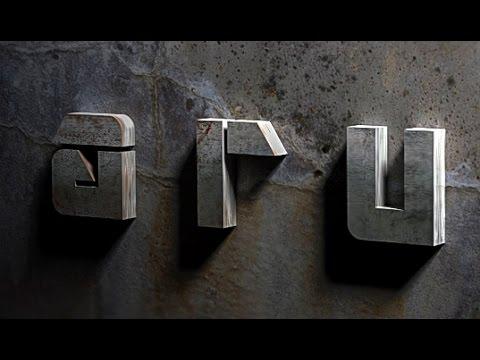 Photoshop Tutorial | 3D Text Effect | Bare Metal
