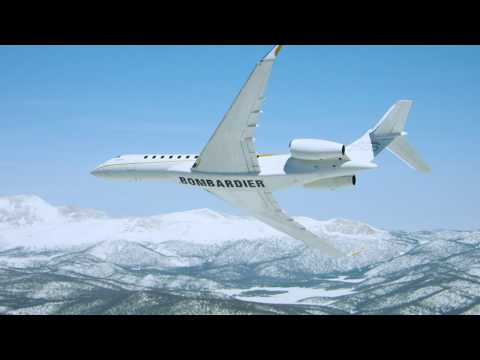 The Global 7500 jet reaches new heights in the heart of the Swiss Alps