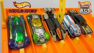 DHR Highway 35 World Race Downhill Racing on the Hot Wheels Super 6 Lane Raceway