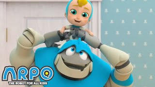 Arpo the Robot | Cleaning goes WRONG!!! | Funny Cartoons for Kids | Arpo and Daniel