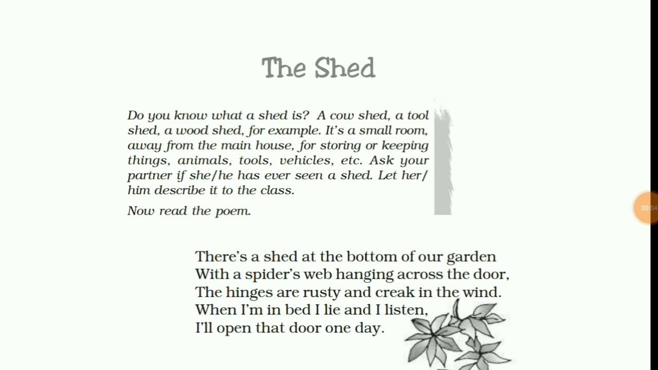 Ncert Class 7 English Honeycomb The Shed Poem Hindi