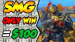 CoD BLACKOUT | iNTENSE SMG ONLY CHALLENGE FOR MONEY!!! (DiD i END UP WiNNiNG THE $100?)