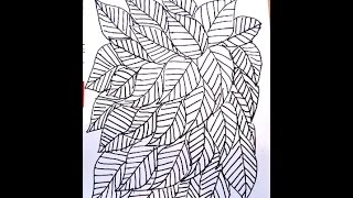 SKELETON LEAVES COLORING PAGE, easy drawing lessons for kids