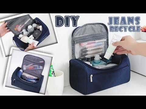 FANTASTIC DIY JEANS BAG IDEA// Zipper HandBag Out Of Old Jeans Tutorial Travel