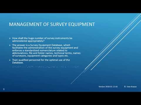 Survey Equipment Database