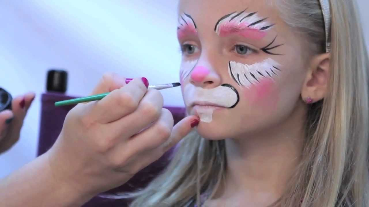 Uncategorized Bunny Face Painting how to facepaint a bunny in 3 easy steps rubies makeup tutorial youtube