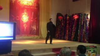 Pakistani boy singing a Chinese song in Saindak