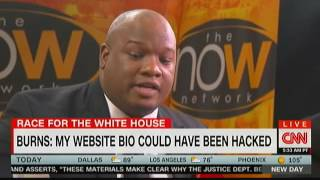 "CNN calls ""Pastor"" Mark Burns on his lies, he walks out"