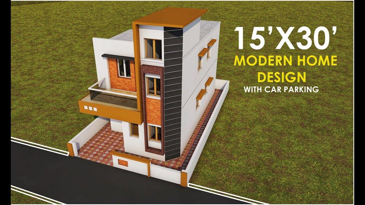15x30 Modern Home Design 15 By 30 Ghar Ka Naksha