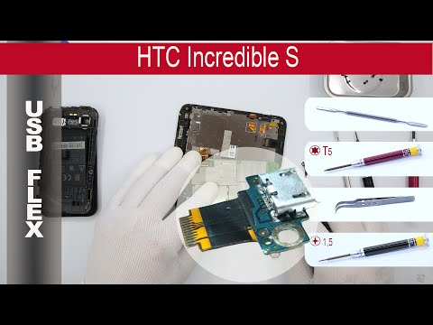 How to replace 🔧🔌📱 charging port (USB) HTC Incredible S (s710e)