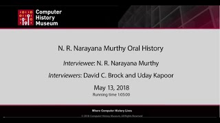 Oral History of N.R. Narayana Murthy