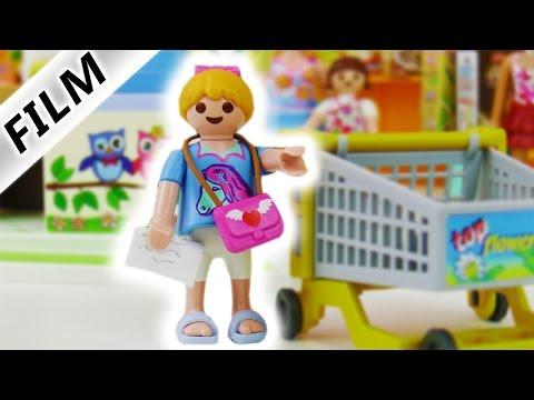 Playmobil Film Deutsch -  Zum ersten MalGANZ ALLEINE EINKAUFEN Hannah Vogel - Familie Vogel