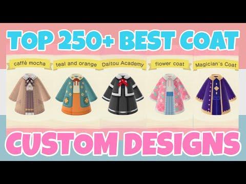Top 250 Best Coat Custom Designs In Animal Crossing New Horizons