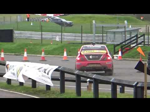 Snetterton Stage Rally 2020 Stage 3 (Ford Escort Hits Posts)