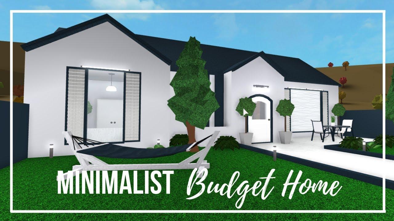 Minimalist Budget Home No Gamepass Welcome To Bloxburg 20k