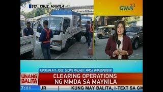 UB: Clearing operations ng MMDA sa Maynila