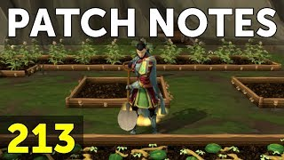 RuneScape Patch Notes #213 - 3rd April 2018