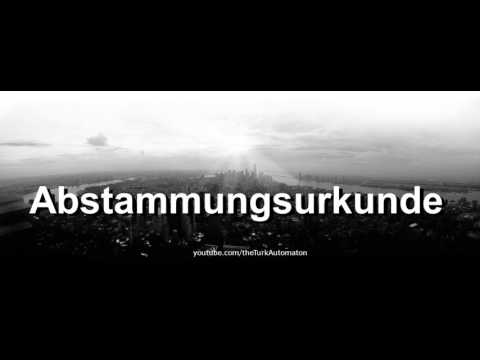 How to pronounce Abstammungsurkunde in German