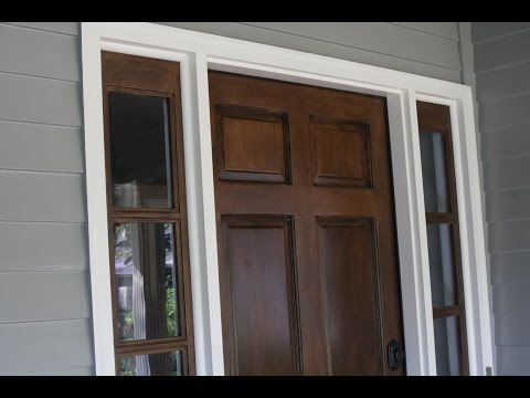 Staining your door without stripping. Stain over existing Stain or Paint!
