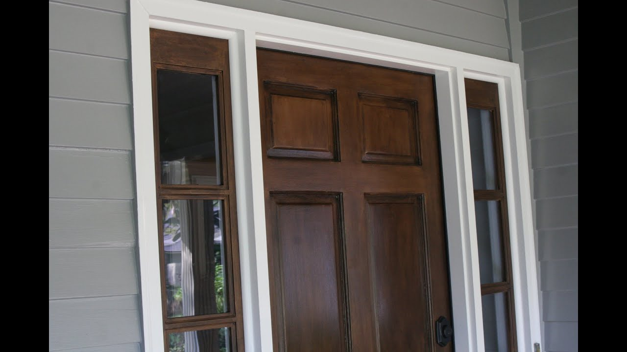 Staining your door without stripping. Stain over existing Stain or Paint! - YouTube : door stains - pezcame.com