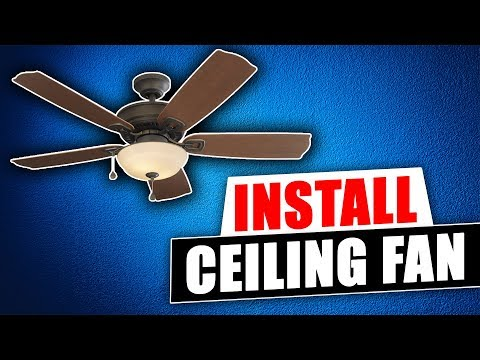 How to install a Harbor Breeze Ceiling Fan from Lowes - YouTubeYouTube