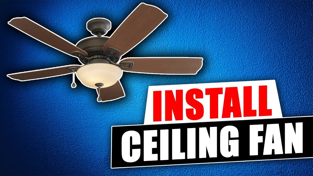 How To Install A Harbor Breeze Ceiling Fan From Lowes Youtube Hampton Bay Remote Wiring Diagram