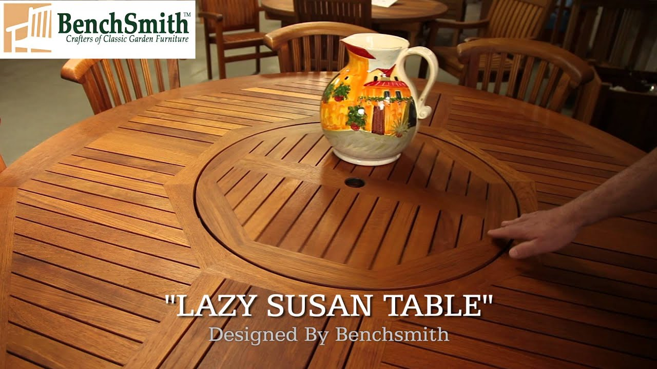 Charmant Quality Teak Table West Palm Beach Florida 1 800 482 3327 Lazy Susan Teak  Table West Palm Beach FL   YouTube
