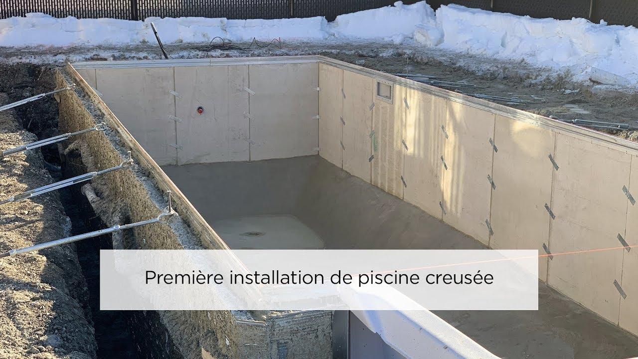 Construction D Une Piscine piscines & spas trévi - installation et construction d'une piscine creusée  trévi avant le dégel