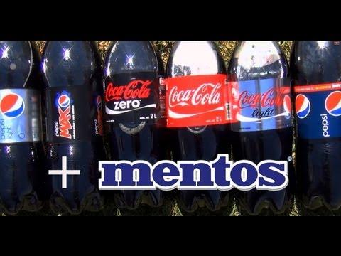 Best mentos and coke launches ever [Diet Coke Zero Coca Cola Light] + [Pepsi Diet Max Kick Light]