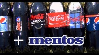 Best mentos and coke launches ever [Diet Coke Zero Coca Cola Light] + [Pepsi Diet Max Kick Light]