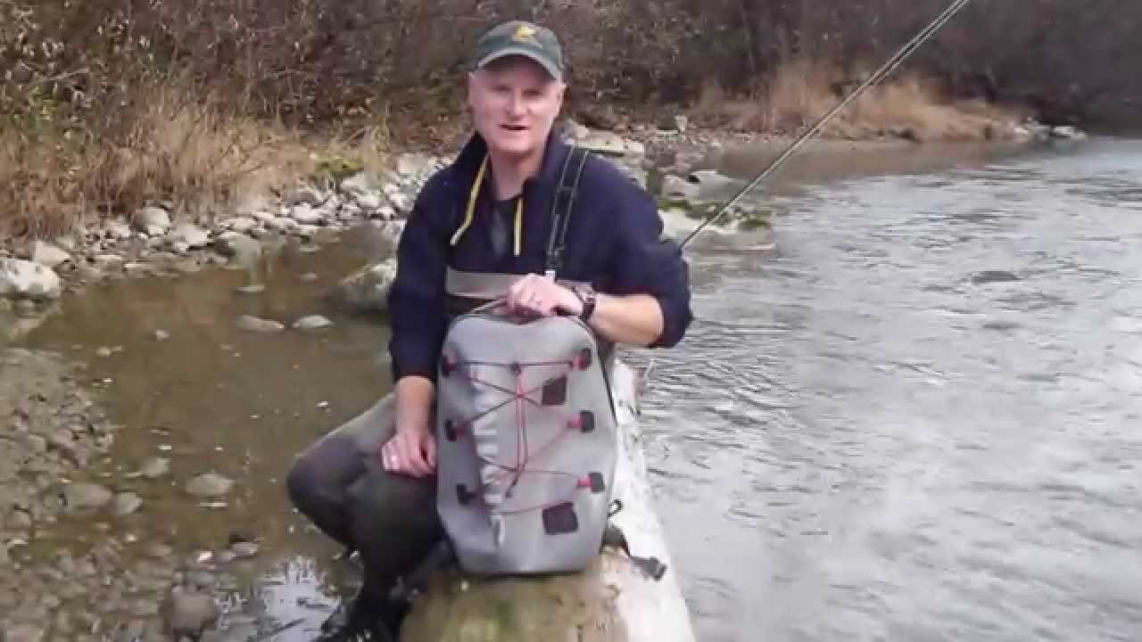 Simms dry creek z backpack youtube for Alaska fly fishing goods
