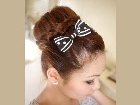 lace-braided-bun-hair-tutorial