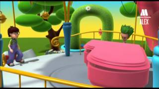 Klavier, Musikinstrumente für Kinder - Bildungs-Karikaturen