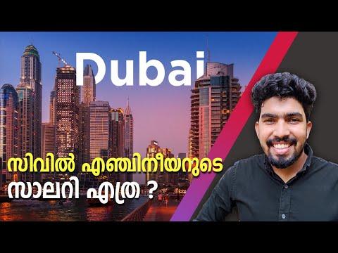 ദുബായിൽ ജോലി Civil Engineering Job Salary in Dubai