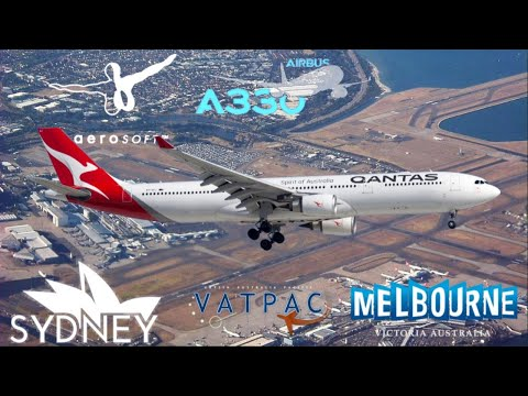 Aerosoft A330 1.0.1.0 On Vatsim Milkrun, Sydney - Melbourne