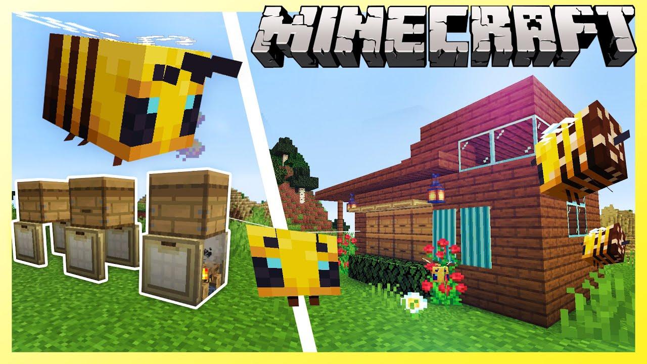 Minecraft 1 15 Bee Keeping Design Ideas Youtube