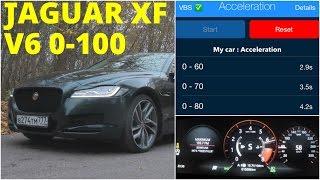 Jaguar XF - Acceleration 0-100 km/h (Racelogic)