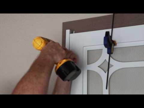 How to install Premium Steel Security Screen Door - Laser Cut models