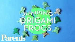 Jumping Origami Frogs | Valentines Day | Parents