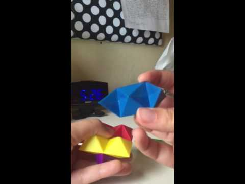 How to Solve a Six Piece Star Puzzle (Colored)