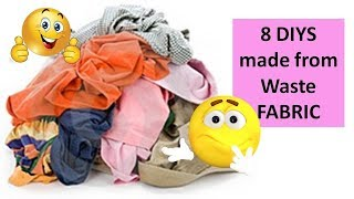 8 useful things that you can actually make from waste fabric or cloth | Learning Process