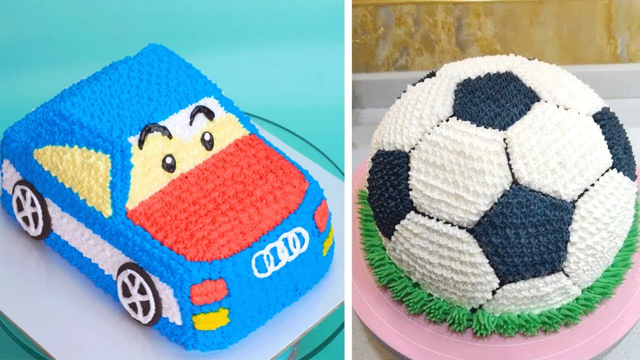 Scroll down to see our collection of 15 baby boy first birthday cake ideas and choose which one is the best for your little one. 23 Birthday Cake Decorating Ideas Soccer Ball Cake Tutorial Perfect Cake Decorating For Baby Youtube