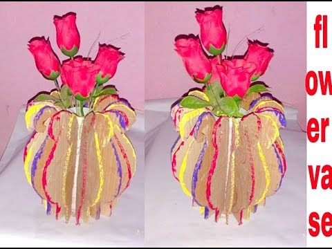 Diy How To Make Flower Vase With Cardboard Handmade Flower