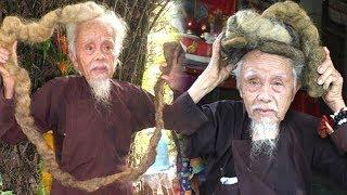 Choa'ng Với D,,ị Nhân Suốt 70 Năm Không Că't Tóc Gội Đâ`u Ở Miền Tây - TIN TỨC 24H TV